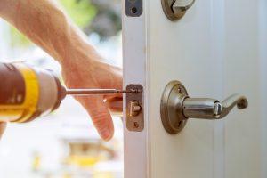 drill fixing door lock