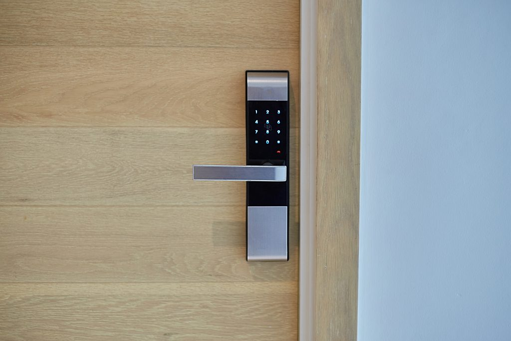 keypad locking system on door